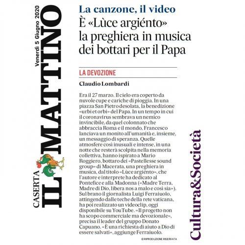 La recensione di Claudio Lombardi per Il Mattino edizione Caserta del 05/06/2020